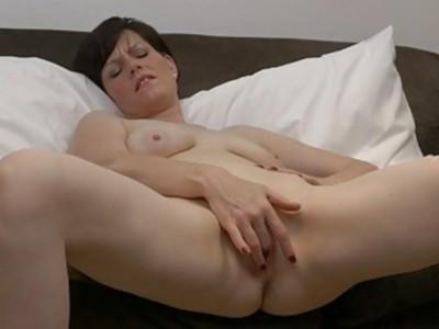 Horny MILF Masturbates Fleshy Pussy to Multiple Os