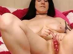 Amazing milf spread her legs and fly