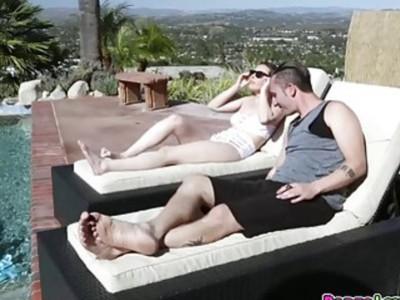 Casey Calvert sucks Ike and gets anal fuck