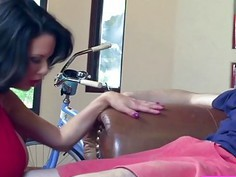 Innocent Jordi El Niño Polla receives a sloppy blowjob