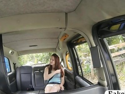 Amateur redhead Czech babe gets fucked by fake driver