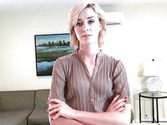 Teen property manager sedcues and fucks her contractor