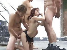 Double penatration movie for hot chick xxx
