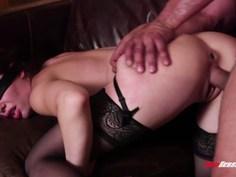 Hot blindfolded wife doggystyled
