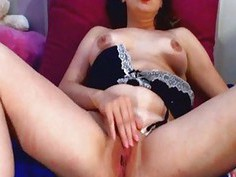 Brunette Girl Wild Masturbation To Orgasm