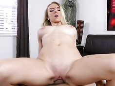 Molly Mae on her knees sucking a cock