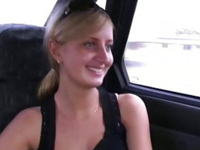 Car sex with young horny girl
