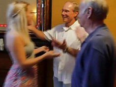 Blonde teen Kenzie Green fucked by some fucking old men