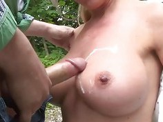Ass fucking German Milf lake side
