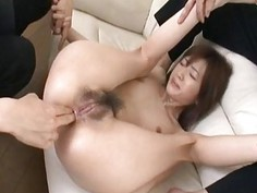 Seductive Kanon gets her both holes stretched and creamed