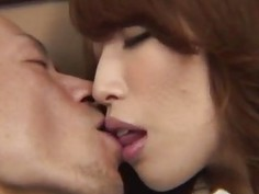Top office babe Aya deals her boss in hardcore