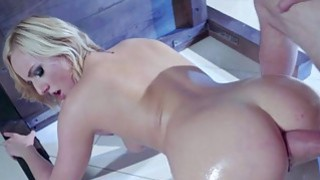 In huge trap where blonde hair Kate England is on