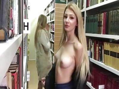 Teens masturbating in a library