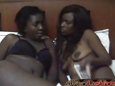 African Lesbians Nisa and Anaya Are Having Passionate Sex In Bedroom