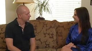 Lucky guy gets a surprise handjob from a hot slut