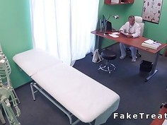 Doctor fucks slim teen patient till orgasm