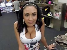 Hot Latina girl fucked in the office