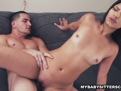 Latina babysitter tricks him into fucking her