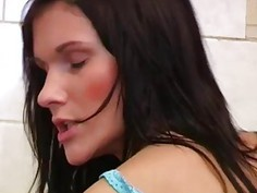 Juicy ass anal first time Debbie plowed in public toilet