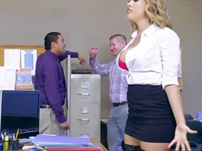 Kagney Linn Karter getting rough pounding on office desk