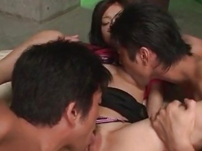 Akina enjoys cock in crazy group scenes