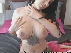 Big Butt Busty Babe Fucks Twat