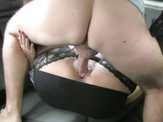 Huge boobs passenger anal rammed hard