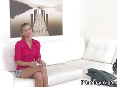 Blonde getting big cock in casting