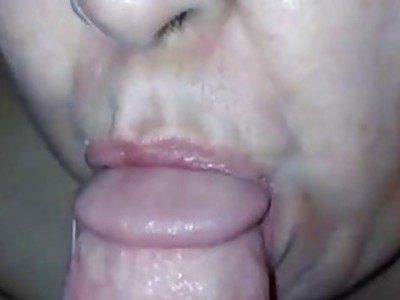 Mature chick giving head