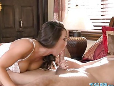 Luscious busty woman Abigail Mac banged by huge cock