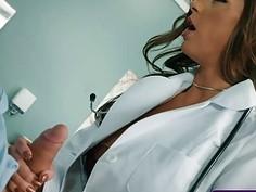 Patient with big cock and viagra fucks nasty doctor