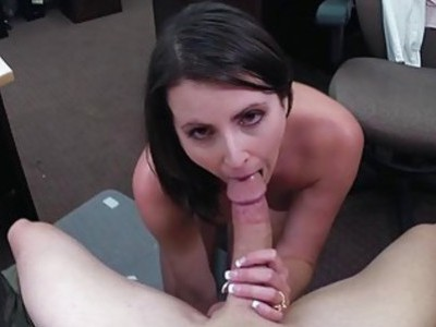 Customers wife pounded by horny pawn guy fuck