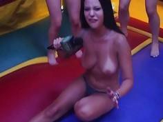 Random girls goes naked for some money