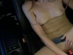 My car masturbation in a parking lot