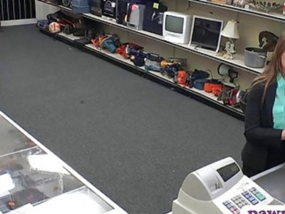 Woman shows off big boobs and screwed by nasty pawn guy
