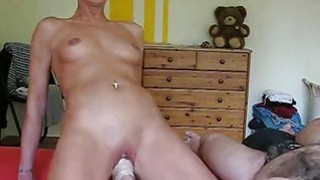 Horny housewife gets her daily fisting training