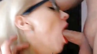 Blonde Deepthroat Blowjob