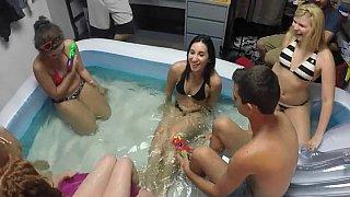 Pool party pounding