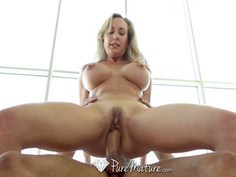 Busty cougar Brandi loves getting fucked