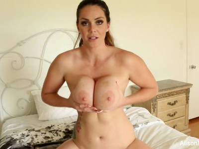 Alison loves to talk dirty as she plays with her pussy