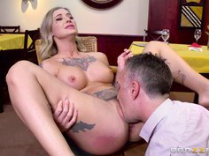 Fucking a pornstar behind wife's back
