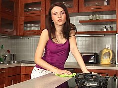 Kinky kitchen teen