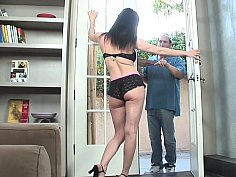 Brunette gets banged