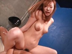Oriental babe acquires facial