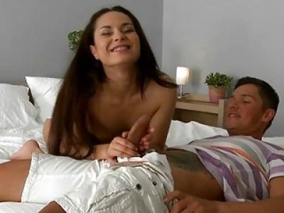 Chap seduces playgirl and fucks her