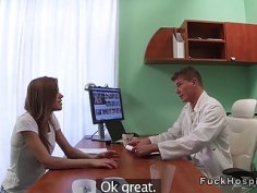 Slim patient gets bad doctors dick in office