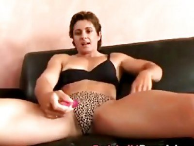Muscled Babe Cory Gates Plays With Pussy Before Guy Fucks Her