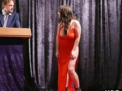 Auction of a huge tits milf who then gets double penetrated