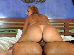 Appealing brazilian babe plays solo