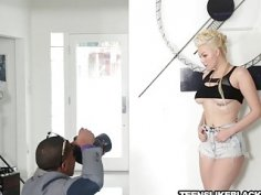 Blonde teen model Jenna fucked hard by BBC photographer